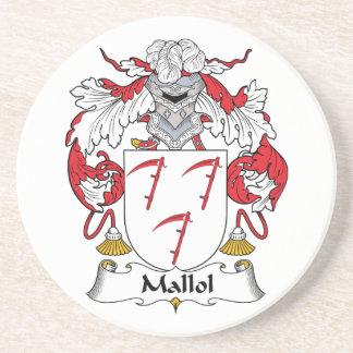 Escudo de la familia de Mallol Posavasos Cerveza