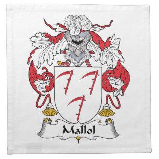 Escudo de la familia de Mallol Servilleta