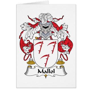 Escudo de la familia de Mallol Tarjetón