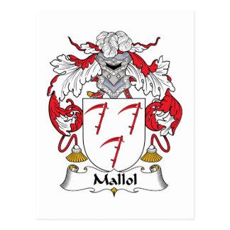 Escudo de la familia de Mallol Tarjetas Postales
