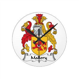 Escudo de la familia de Mallory Reloj Redondo Mediano