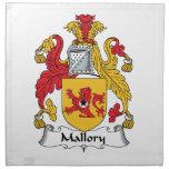 Escudo de la familia de Mallory Servilleta