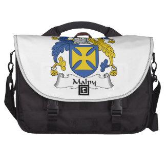 Escudo de la familia de Malpy Bolsas De Portátil