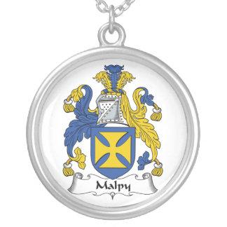 Escudo de la familia de Malpy Colgante Redondo