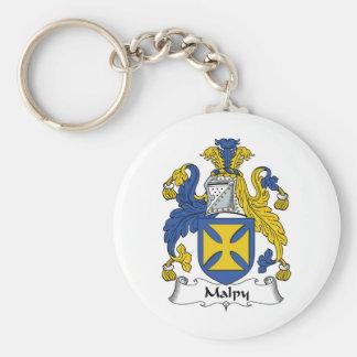 Escudo de la familia de Malpy Llavero Redondo Tipo Pin
