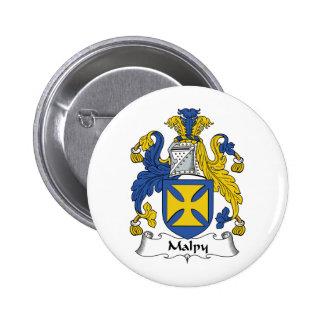 Escudo de la familia de Malpy Pin Redondo 5 Cm