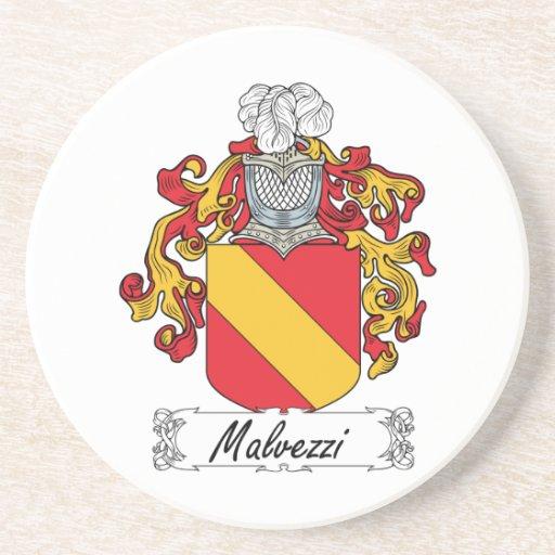 Escudo de la familia de Malvezzi Posavaso Para Bebida