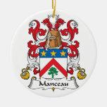 Escudo de la familia de Manceau Ornamente De Reyes