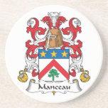 Escudo de la familia de Manceau Posavasos Diseño