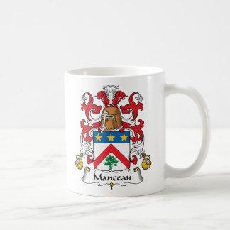 Escudo de la familia de Manceau Taza