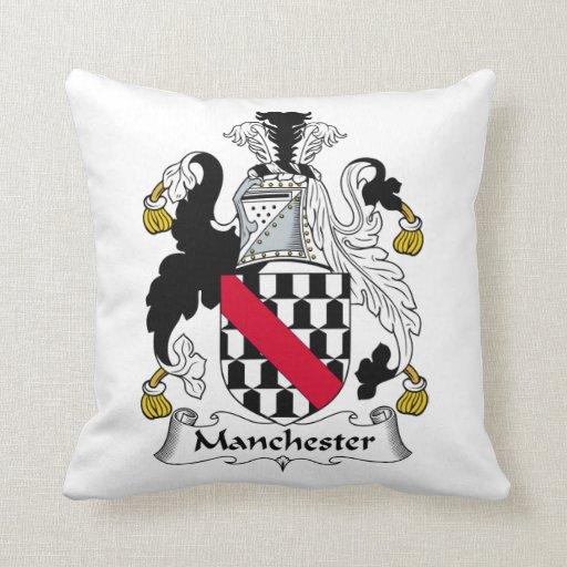 Escudo de la familia de Manchester Almohada