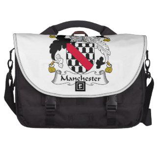Escudo de la familia de Manchester Bolsas Para Portatil