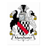 Escudo de la familia de Manchester Postales