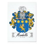 Escudo de la familia de Mandello Invitación 12,7 X 17,8 Cm