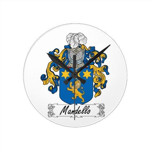 Escudo de la familia de Mandello Relojes
