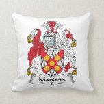 Escudo de la familia de Manders Cojines