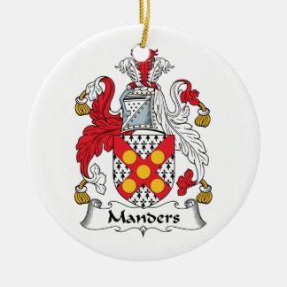 Escudo de la familia de Manders Adorno Redondo De Cerámica