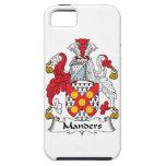 Escudo de la familia de Manders iPhone 5 Case-Mate Fundas