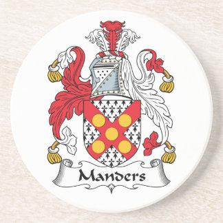 Escudo de la familia de Manders Posavasos Para Bebidas