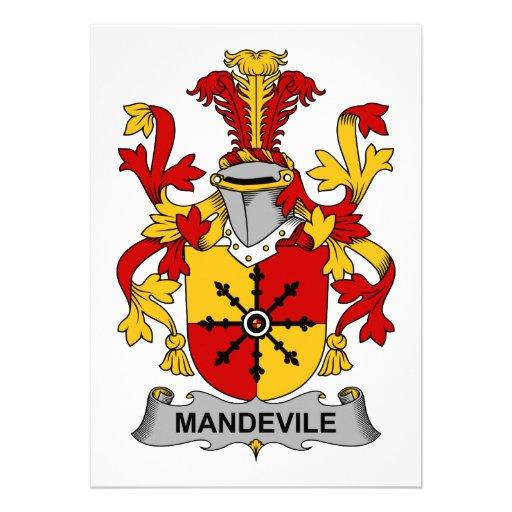 Escudo de la familia de Mandevile Comunicados