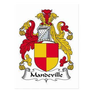 Escudo de la familia de Mandeville Postal