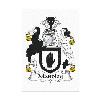 Escudo de la familia de Mandley Impresiones En Lienzo Estiradas