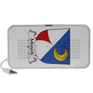 Escudo de la familia de Maneck Notebook Altavoz