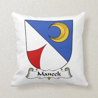 Escudo de la familia de Maneck Cojines