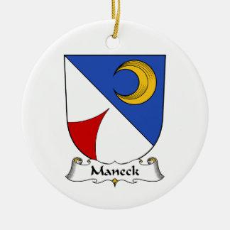 Escudo de la familia de Maneck Ornamento De Navidad