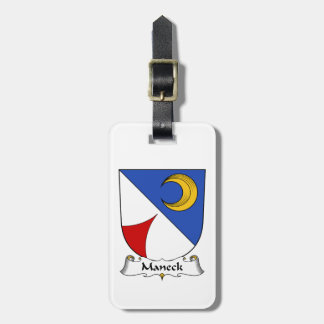 Escudo de la familia de Maneck Etiquetas Maletas