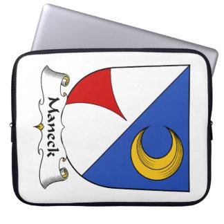Escudo de la familia de Maneck Funda Ordendadores