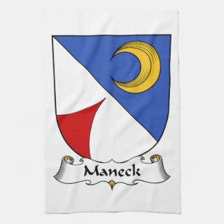 Escudo de la familia de Maneck Toalla De Cocina