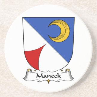 Escudo de la familia de Maneck Posavaso Para Bebida