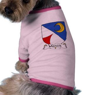 Escudo de la familia de Maneck Camiseta De Mascota