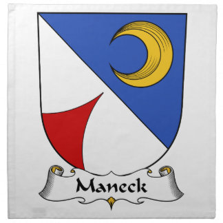 Escudo de la familia de Maneck Servilletas
