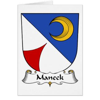 Escudo de la familia de Maneck Tarjetón