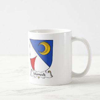Escudo de la familia de Maneck Taza De Café