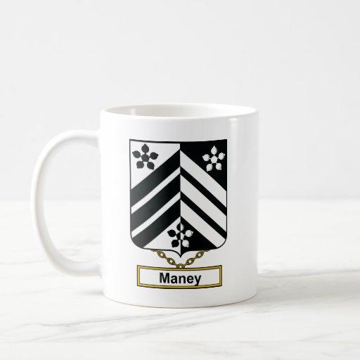 Escudo de la familia de Maney Taza Clásica