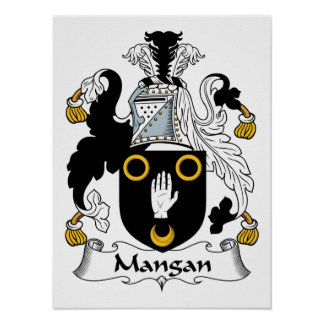 Escudo de la familia de Mangan Poster