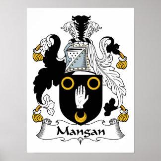 Escudo de la familia de Mangan Póster