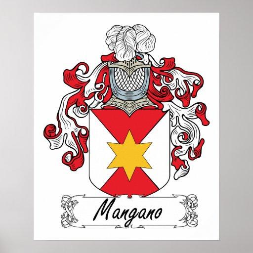 Escudo de la familia de Mangano Póster