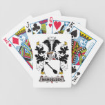 Escudo de la familia de Mangelsen Baraja Cartas De Poker