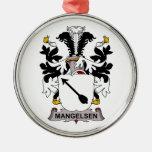 Escudo de la familia de Mangelsen Ornamento Para Arbol De Navidad