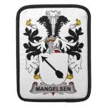 Escudo de la familia de Mangelsen Fundas Para iPads