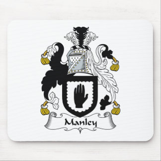 Escudo de la familia de Manley Tapetes De Ratón