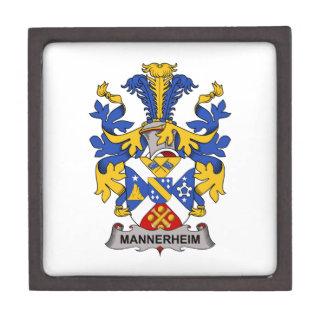Escudo de la familia de Mannerheim Cajas De Recuerdo De Calidad