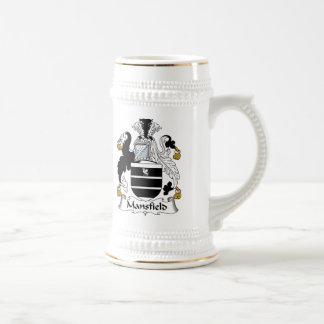 Escudo de la familia de Mansfield Jarra De Cerveza