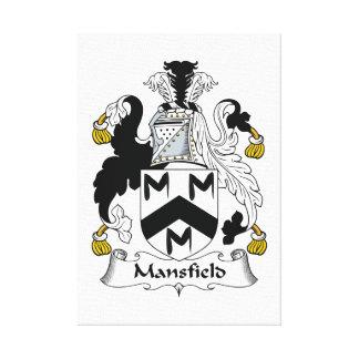 Escudo de la familia de Mansfield Impresión En Lona Estirada