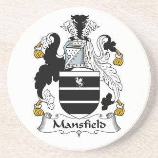 Escudo de la familia de Mansfield Posavasos Para Bebidas