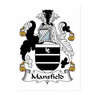 Escudo de la familia de Mansfield Postales